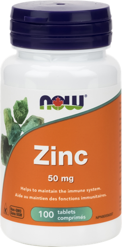 Picture of NOW Foods Zinc 50mg, 100 Tablets