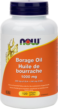 Picture of  Borage Oil 1000mg, 120 Softgels