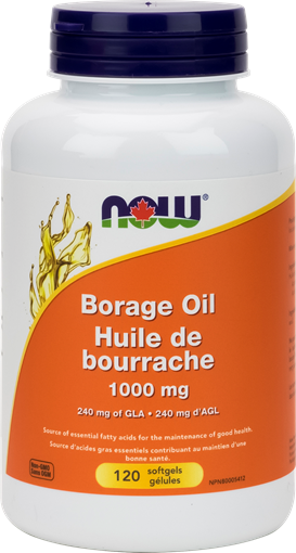 Picture of NOW Foods Borage Oil 1000mg, 120 Softgels