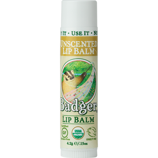 Picture of Badger Balm Badger Lip Balm, Unscented 4.2g