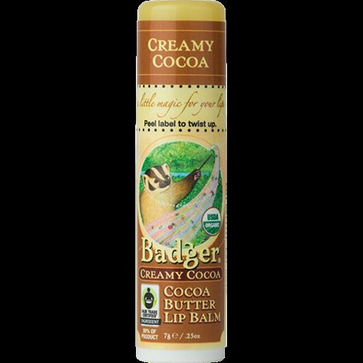 Picture of Badger Balm Lip Balm, Creamy Cocoa 4.8g