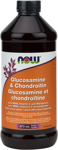 Picture of NOW Foods Glucosamine & Chondroitin with MSM Liquid, 473mL