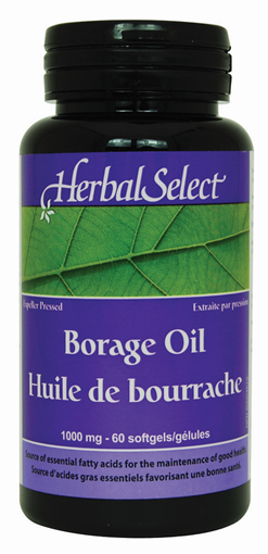 Picture of Herbal Select Herbal Select Borage Oil 1000mg, 60 Softgels