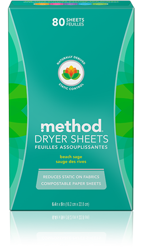 Picture of Method Home Method Dryer Sheets, Beach Sage 80 Sheets