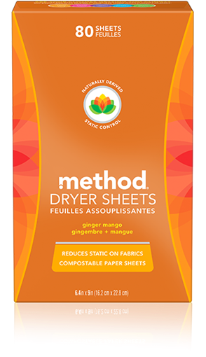 Picture of Method Home Method Dryer Sheets, Ginger Mango 80 Sheets