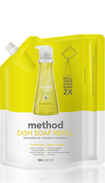 Picture of Method Home Method Dish Pump Refill, Lemon Mint 1064ml