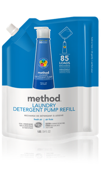Picture of  Method Laundry Detergent Refill, Fresh Air 1020ml