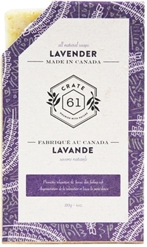 Picture of Crate 61 Organics Crate 61 Organics Bar Soap, Lavender 110g