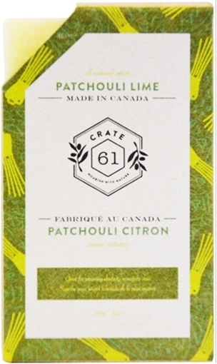 Picture of Crate 61 Organics Crate 61 Organics Bar Soap, Patchouli Lime 110g
