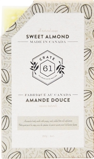 Picture of Crate 61 Organics Crate 61 Organics Bar Soap, Sweet Almond 110g