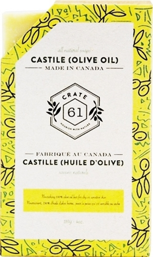 Picture of Crate 61 Organics Crate 61 Organics Castile Bar Soap, 100% Olive Oil 110g