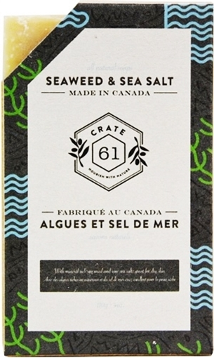 Picture of Crate 61 Organics Crate 61 Organics Bar Soap, Seaweed and Sea Salt 110g