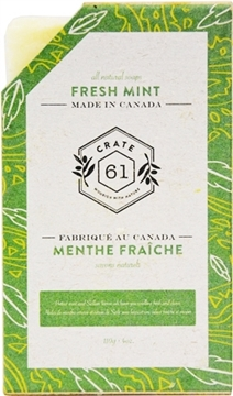 Picture of Crate 61 Organics Crate 61 Organics Bar Soap, Fresh Mint 110g