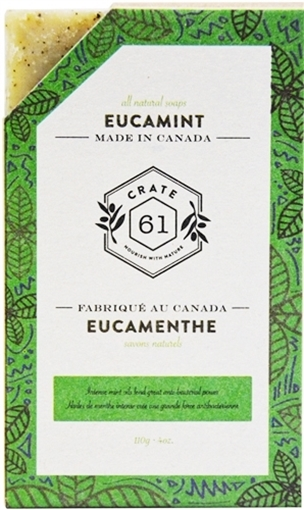 Picture of Crate 61 Organics Crate 61 Organics Bar Soap, Eucamint 110g