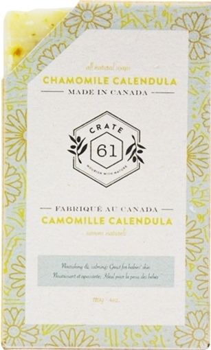 Picture of Crate 61 Organics Crate 61 Organics Bar Soap, Chamomile Calendula 110g