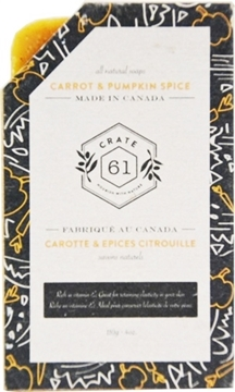 Picture of Crate 61 Organics Crate 61 Organics Bar Soap, Carrot & Pumpkin Spice 110g