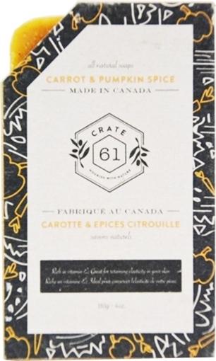 Picture of Crate 61 Organics Crate 61 Organics Bar Soap, Carrot & Pumpkin Spice 110g