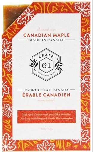 Picture of Crate 61 Organics Crate 61 Organics Bar Soap, Canadian Maple 110g