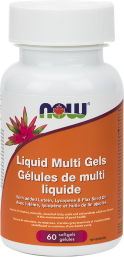 Picture of NOW Foods Liquid Multivitamin & Mineral Gels, 60 Softgels