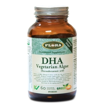 Picture of Flora DHA Vegetarian Algae, 60 Capsules