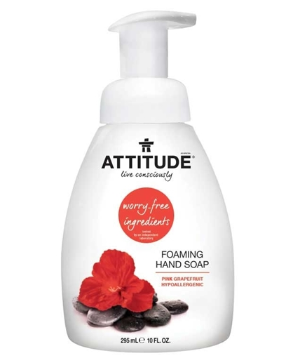 Picture of Attitude ATTITUDE Foaming Hand Soap, Pink Grapefruit 295ml