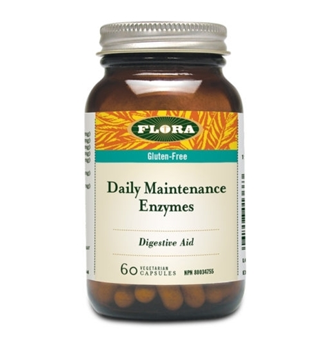 Picture of Flora Flora Daily Maintenance Enzymes, 60 Capsules