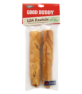 """Picture of Castor & Pollux Castor & Pollux 2-Pack USA Rawhide Bone, 7"""""""