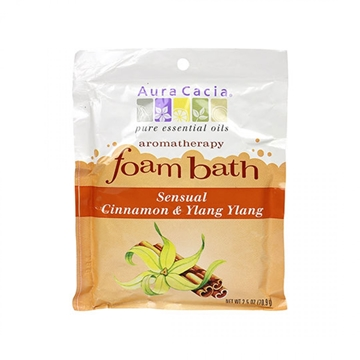 Picture of  Aura Cacia Cinnamon & Ylang Ylang Foam Bath, 70.9g
