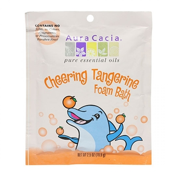 Picture of  Aura Cacia Kids Cheering Sweet Orange & Tangerine Foam Bath, 70.9g