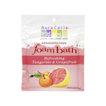 Picture of  Aura Cacia Foam Bath, Tangerine & Grapefruit 70.9g