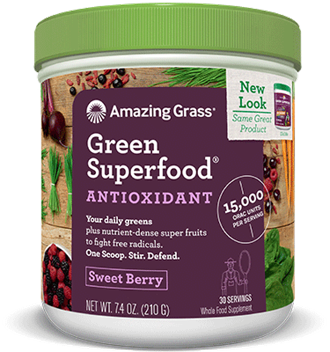 Picture of Amazing Grass Green SuperFood Sweet Berry,  210g