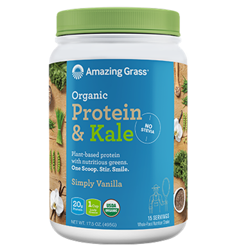 Picture of Amazing Grass Protein & Kale, Simply Vanilla 495g