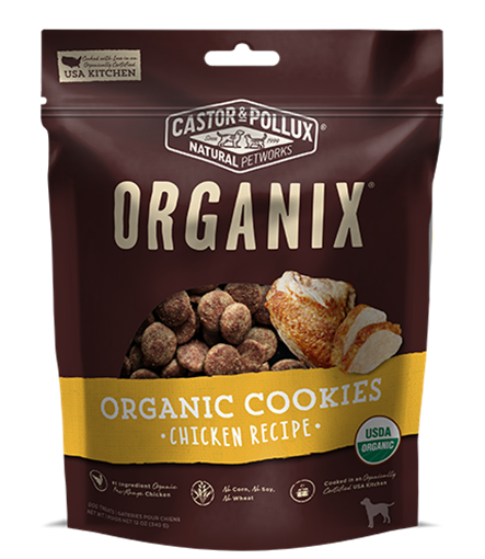 Picture of Castor & Pollux Castor & Pollux Organic Dog Cookies, Chicken 340g