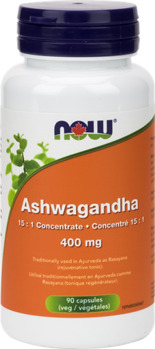 Picture of NOW Foods Ashwagandha Extract 400mg, 90 Capsules