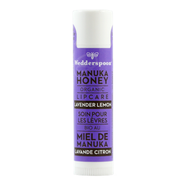 Picture of  Wedderspoon Organic Manuka Lip Balm, Lavender Lemon 4.5g