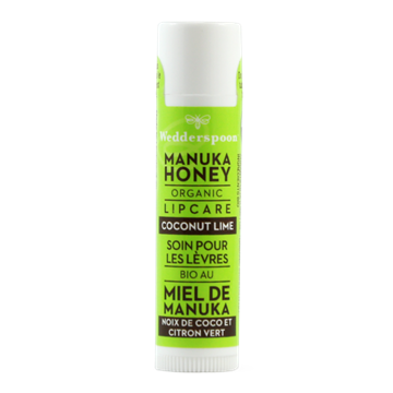 Picture of  Wedderspoon Organic Manuka Lip Balm, Coconut Lime 4.5g