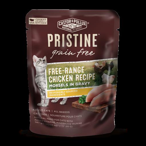 Picture of Castor & Pollux Castor & Pollux Grain Free Free-Range Chicken Pouch, 85g