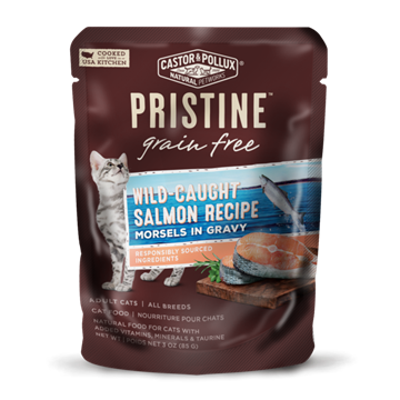 Picture of  Castor & Pollux Grain Free Wild-Caught Salmon Pouch, 85g