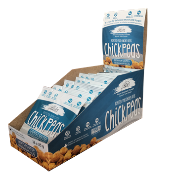 Picture of  Roasted Chickpeas, Lightly Salted 12x25g