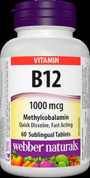 Picture of Webber Naturals Vitamin B12 1000mcg, 80 Capsules