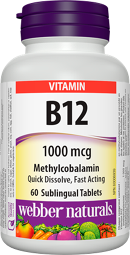 Picture of Webber Naturals Vitamin B12 1000mcg, 80 Capsules
