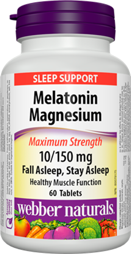 Picture of Webber Naturals Melatonin Magnesium 10/150mg, 60 Tablets