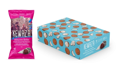 Picture of Kewaza Dark Chocolate Coconut Healthy Bites, 10x34g