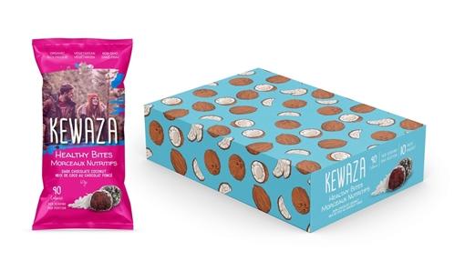 Picture of Kewaza Dark Chocolate Coconut Healthy Bites, 10x34g