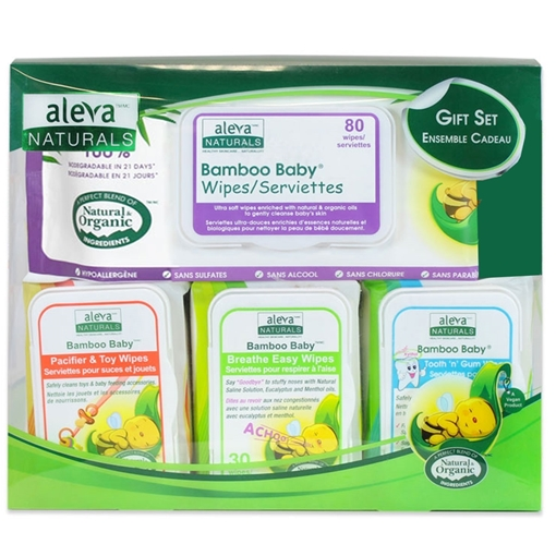 Picture of Aleva Naturals Aleva Naturals Bamboo Baby Wipes Gift Set
