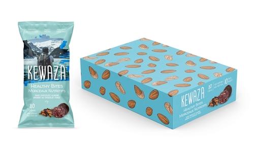 Picture of Kewaza Dark Chocolate Almond Healthy Bites, 10x34g