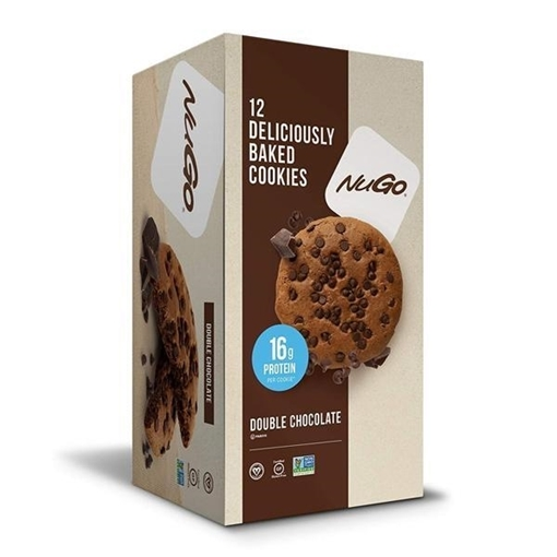 Picture of NuGo Nutrition To Go Double Chocolate Protein Cookies, 12x100g