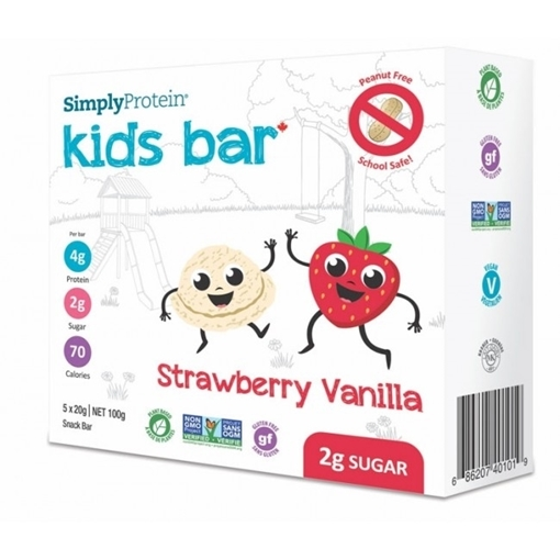 Picture of Simply Protein Simply Protein Kids Bar, Strawberry Vanilla 5x20g