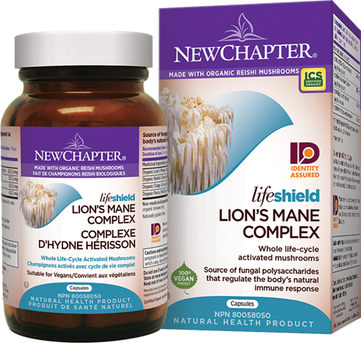 Picture of New Chapter New Chapter Lifeshield Lion's Mane, 72 Capsules
