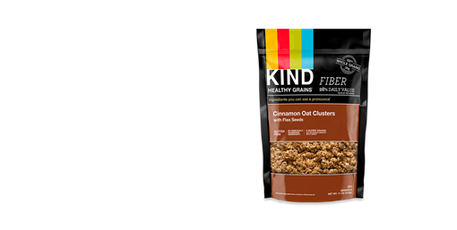 Picture of KIND Kind Clusters, Cinnamon Oat with Flax Seeds 312g